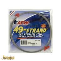 49 Strand, 7x7 Rostfri Shark Leader Vajer 80kg, 9,2m