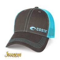 Costa Neon trucker - Graphite / Neon Blue
