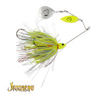 Savage Gear Da'bush Spinnerbait 42g #4 Yellow Silver Holo Flame